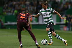 September 27, 2017 - Lisbon, Lisbon, Portugal - Sportings defender Fabio Coentrao from Portugal  during the match between Sporting CP v FC Barcelona UEFA Champions League playoff match at Estadio Jose Alvalade on September 27, 2017 in Lisbon, Portugal. (Credit Image: © Dpi/NurPhoto via ZUMA Press)