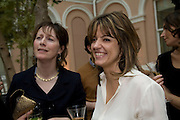 REBECCA FITZGERALD AND PETRONELLA WYATT, Launch of the new magazine 'Standpoint'. Wallace Collection. Manchester Sq. London. 28 May 2008.  *** Local Caption *** -DO NOT ARCHIVE-© Copyright Photograph by Dafydd Jones. 248 Clapham Rd. London SW9 0PZ. Tel 0207 820 0771. www.dafjones.com.