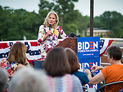 28 JUNE 2019 - DES MOINES, IOWA: Dr. JILL BIDEN speaks to voters at the State Historical Museum of Iowa. Dr. Biden was in Des Moines Friday to campaign for her husband, former Vice President Joe Biden. Vice President Biden, who was Vice President for 8 years during the Obama administration, is one of the Democratic front runners for the Presidency. Iowa traditionally hosts the the first selection event of the presidential election cycle. The Iowa Caucuses will be on Feb. 3, 2020.             PHOTO BY JACK KURTZ
