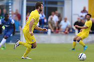 AFC Wimbledon defender Jon Meades (3) during the Pre-Season Friendly match between Margate and AFC Wimbledon at Hartsdown Park, Margate, United Kingdom on 16 July 2016. Photo by Stuart Butcher.