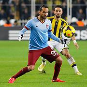 Trabzonspor's Erkan Zengin during their Turkish superleague soccer derby Fenerbahce between Trabzonspor at the Sukru Saracaoglu stadium in Istanbul Turkey on Saturday 07 February 2015. Photo by Aykut AKICI/TURKPIX