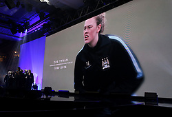 A tribute to Zoe Tynan on the big screen during the Professional Footballers' Association Awards 2017 at the Grosvenor House Hotel, London