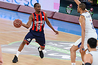 Baskonia's Rodrigue Beaubois and Real Madrid's Anthony Randolph during Semi Finals match of 2017 King's Cup at Fernando Buesa Arena in Vitoria, Spain. February 18, 2017. (ALTERPHOTOS/BorjaB.Hojas)