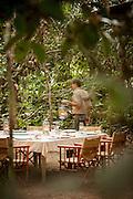 Dining table, Lekoli Fly Camp, Lekoli River.