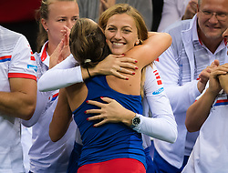 November 10, 2018 - Prague, Czech Republic - Barbora Strycova of the Czech Republic hugs Petra Kvitova at the 2018 Fed Cup Final between the Czech Republic and the United States of America (Credit Image: © AFP7 via ZUMA Wire)
