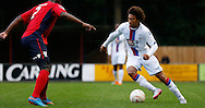 Keshi Anderson making a turn during the Pre-Season Friendly match between Hampton & Richmond and Crystal Palace at Beveree Stadium, Richmond Upon Thames, United Kingdom on 27 July 2015. Photo by Michael Hulf.