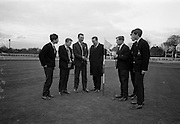 22/03/1966<br /> 03/22/1966<br /> 22 March 1966<br /> Golf scheme for students at John Jacobs Golf Centre, Foxrock, Dublin. The scheme, organised by the Golf Foundation, was planned to enable young people to learn golf under expert tuition. It was inaugurated when 24 pupils of Terenure College were supervised and coached by Jimmy Kinsella- the Castle Golf Club professional. Picture shows: Jimmy Kinsella (with club) who coached the students at the putting green.