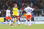 Burton Albion midfielder Stephen Quinn (23) salutes the Brewers fans during the EFL Sky Bet League 1 match between Burton Albion and Luton Town at the Pirelli Stadium, Burton upon Trent, England on 27 April 2019.