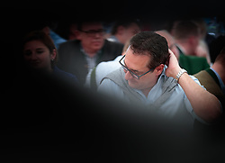 21.04.2018, Kuglhof, Salzburg, AUT, Landtagswahl in Salzburg 2018, FPOe Wahlkampfschlussveranstaltung, im Bild Vizekanzler Heinz- Christian Strache (FPOe) // Austrian Vice Chancellor Heinz- Christian Strache during a campaign event of the FPOe Party for the State election in Salzburg 2018. Kuglhof in Salzburg, Austria on 2018/04/21. EXPA Pictures © 2018, PhotoCredit: EXPA/ JFK