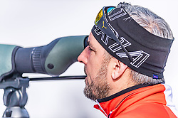 13.02.2020, Suedtirol Arena, Antholz, ITA, IBU Weltmeisterschaften Biathlon, Mixed Staffel, im Bild Ricco Gross Cheftrainer Biathlon Trainingsgruppe I (AUT) // Ricco Groß head coach biathlon training group I of Austria during the Mixed Relay of IBU Biathlon World Championships 2020 at the Suedtirol Arena in Antholz, Italy on 2020/02/13. EXPA Pictures © 2020, PhotoCredit: EXPA/ Stefan Adelsberger