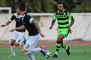 Forest Green Rovers Keanu Marsh-Brown(7) runs forward during the Pre-Season Friendly match between SC Farense and Forest Green Rovers at Estadio Municipal de Albufeira, Albufeira, Portugal on 25 July 2017. Photo by Shane Healey.