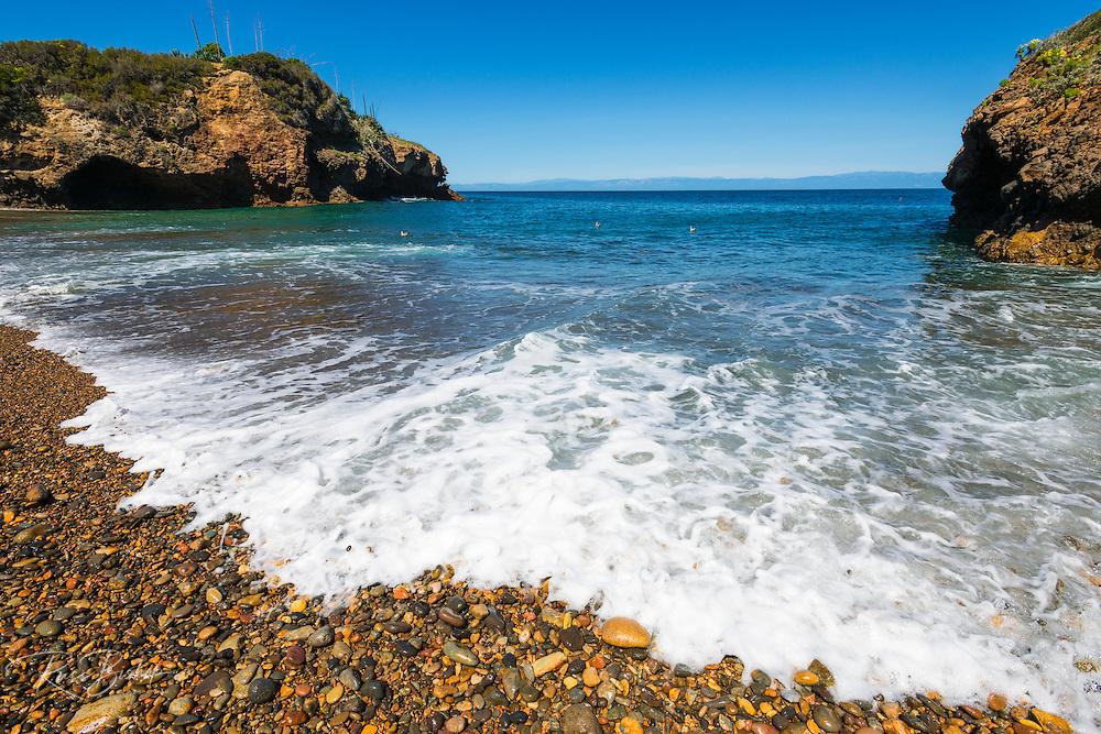 Rocky beach at Tinker's Cove, Santa Cruz Island, Channel Islands National Park, California USA