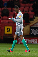 Blackburn Rovers' Tosin Adarabioyo reads instructions from a sheet of paper<br /> <br /> Photographer Stephanie Meek/CameraSport<br /> <br /> The EFL Sky Bet Championship - Charlton Athletic v Blackburn Rovers - Saturday 15th February 2020 - The Valley - London<br /> <br /> World Copyright © 2020 CameraSport. All rights reserved. 43 Linden Ave. Countesthorpe. Leicester. England. LE8 5PG - Tel: +44 (0) 116 277 4147 - admin@camerasport.com - www.camerasport.com