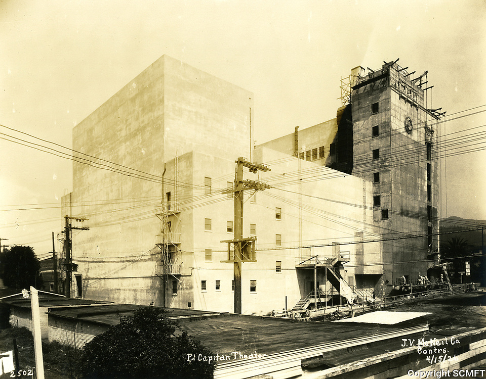 4/15/1926 Construction of the El Capitan Theater