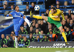 23.11.2010, Stamford Bridge, London, ENG, UEFA CL, Chelsea FC vs MSK Zilina, im Bild Chelsea`s Daniel Sturridge and Zalina's Jozef Piacek  Chelsea vs MSK Zilina  for the  Uefa Champions Premier League, Group H,  at Stamford Bridge stadium in London on 23/11/2010. EXPA Pictures © 2010, PhotoCredit: EXPA/ IPS/ Rob Noyes +++++ ATTENTION - OUT OF ENGLAND/UK and FRANCE/FR +++++