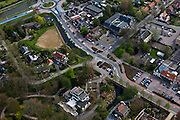 Nederland, Noord-Holland, Anna Paulowna, 28-04-2010; dorpskern met villa, kerke en gemeentehuis.luchtfoto (toeslag), aerial photo (additional fee required).foto/photo Siebe Swart
