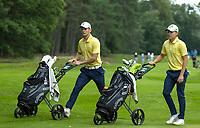 HILVERSUM - final Germany vs Sweden (2-1. Swedish David Nyfjall and Albin Bergstrom (Zweden)   ELTK Golf 2020 The Dutch Golf Federation (NGF), The European Golf Federation (EGA) and the Hilversumsche Golf Club will organize Team European Championships for men.  COPYRIGHT KOEN SUYK