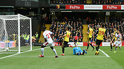 Crystal Palace's Michy Batshuayi (left) scores his side's first goal of the game