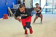 Former Southern Utah cornerback Taelin Webb during a workout at Team Elite Sports Academy, Thursday, Sept. 17, 2020, in San Bernardino, Calif. (Dylan Stewart/Image of Sport)