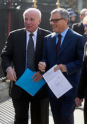 David Frost Memorial Service at Westminster Abbey<br /> <br /> Greg Dyke and Martin Sorrell<br /> <br /> <br /> <br /> <br /> Pic by Gavin Rodgers/Pixel 8000 Ltd © Licensed to London News Pictures. Photo credit: Gavin Rogers/LNP