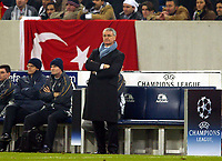 Photograph: Scott Heavey.<br />Besiktas v Chelsea. UEFA Champions league Group G. 09/12/2003.<br />Claudio Ranieri looks on, after having objects thrown at him from the crowd