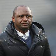 NEW YORK, NEW YORK - March 18: Head coach Patrick Vieira on New York City FC leaves the field after his sides 1-1 draw during the New York City FC Vs Montreal Impact regular season MLS game at Yankee Stadium on March 18, 2017 in New York City. (Photo by Tim Clayton/Corbis via Getty Images)