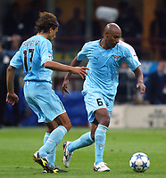 Milano 21/9/2005 Campionato Serie A<br /> Milan Lazio 2-0 Ousmane DAbo and Sebastiano Siviglia Lazio <br /> Photo Digitalsport<br /> Norway only