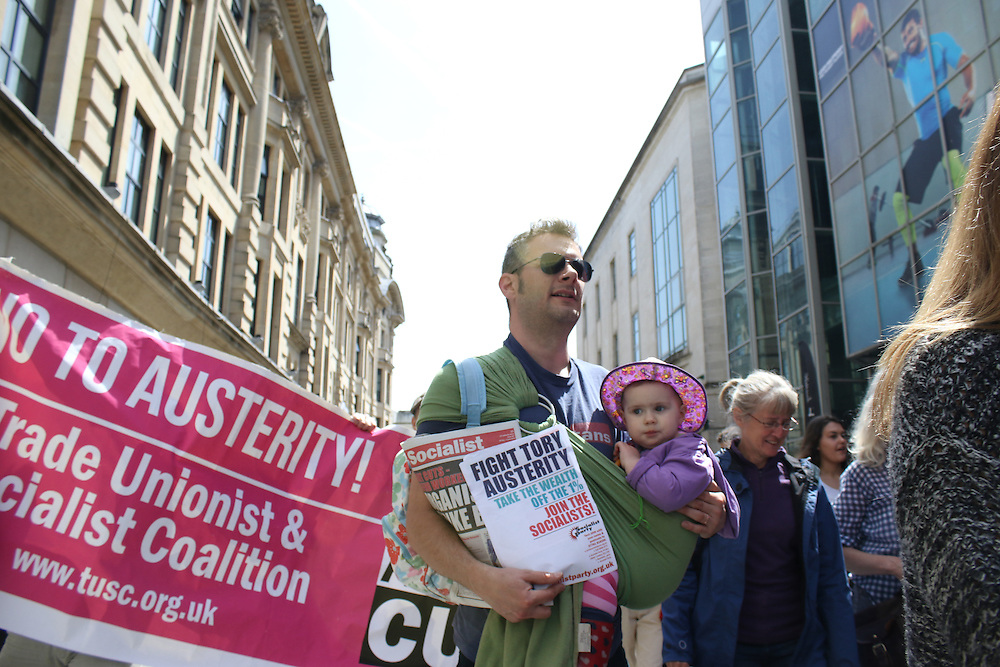 Protesters at Cardiff People's Assembly march against austerity