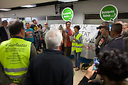 """Ocupation of the unemployment office of Nou Barris district. //Spain's Marchs for Dignity has organized an ocupation of the unemployment offices –INEM- on the eve of May 1st International Worker's Day. With the motto """"bread, work, roof and dignity"""", a total of 400 unemployment offices has been occupied by different movements during two hours (11h to 13h) in the Spanish State. 6 millions of people are unemployed in Spain, many of them don't get the public assistance from the adminitration and others receive the minimum amount of 426€ at a month. 30th April."""