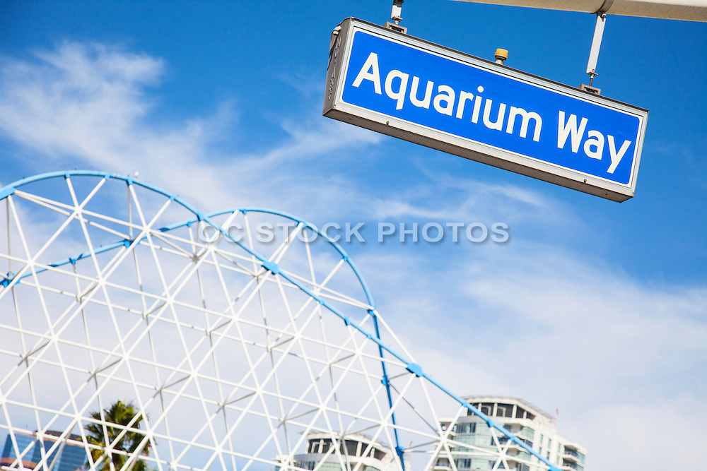 Aquarium Way Street Sign