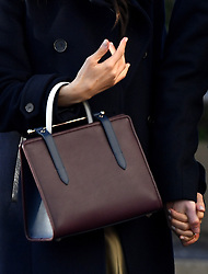 Meghan Markle's Strathberry handbag during a Royal visit to Nottingham. Photo credit should read: M6027D/EMPICS Entertainment