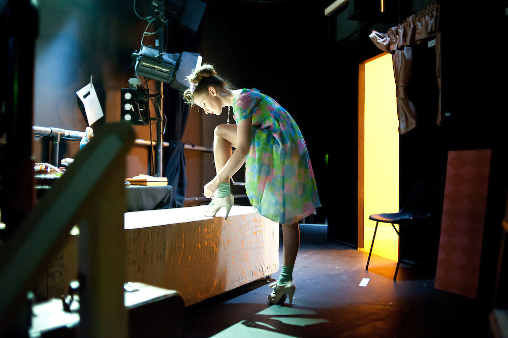 Louise Brealey backsatge at The Government Inspector in June 28th 2011 at The Young Vic theatre.<br /> Brealey is currently playing Sherlock's lovelorn Molly in new TV drama.<br /> Photo Ki Price