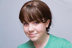 Teenaged girl smiling