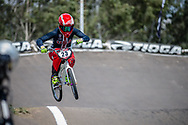 #23 (STANCIL Felicia) USA during practice at round 1 of the 2018 UCI BMX Supercross World Cup in Santiago del Estero, Argentina.