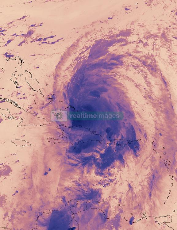 September 22, 2017 - Atlantic Ocean - On Sept. 22 at 3:18 a.m. EDT (0718 UTC) the VIIRS instrument aboard NASA-NOAA's Suomi NPP satellite provided this thermal image of Hurricane Maria north of Hispaniola and nearing the Bahamas. (Credit Image: © NOAA/NASA /ZUMA Wire/ZUMAPRESS.com)