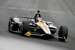 May 19, 2019 - Indianapolis, IN, U.S. - INDIANAPOLIS, IN - MAY 19: IndyCar driver James Hinchcliffe (5) of the Arrow Schmidt Peterson Motorsports Honda drives into turn one during the practice session for the IndyCar Series 103rd Indianapolis 500 on May 19, 2019, at the Indianapolis Motor speedway in Indianapolis, Indiana. (Photo by Michael Allio/Icon Sportswire) (Credit Image: © Michael Allio/Icon SMI via ZUMA Press)
