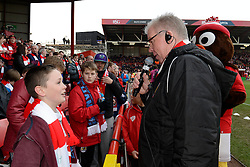 Half time competition - Photo mandatory by-line: Dougie Allward/JMP - Mobile: 07966 386802 - 25/01/2015 - SPORT - Football - Bristol - Ashton Gate - Bristol City v West Ham United - FA Cup Fourth Round
