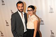 Premiere Lotus op het Nederlands Filmfestival in de stadsschouburg in Utrecht<br /> <br /> Op de foto: Nasrdin Dchar en Birgit Schuurman