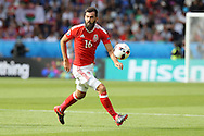 Joe Ledley of Wales in action. UEFA Euro 2016, last 16 , Wales v Northern Ireland at the Parc des Princes in Paris, France on Saturday 25th June 2016, pic by  Andrew Orchard, Andrew Orchard sports photography.