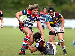 Sarah Bern of Bristol Ladies runs through a tackle - Mandatory by-line: Robbie Stephenson/JMP - 18/09/2016 - RUGBY - Cleve RFC - Bristol, England - Bristol Ladies Rugby v Aylesford Bulls Ladies - RFU Women's Premiership