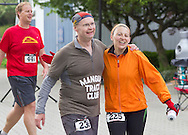 Augusta, New Jersey - Runners at the finish line at the end of the 3 Days at the Fair races at Sussex County Fairgrounds on May 13, 2012.