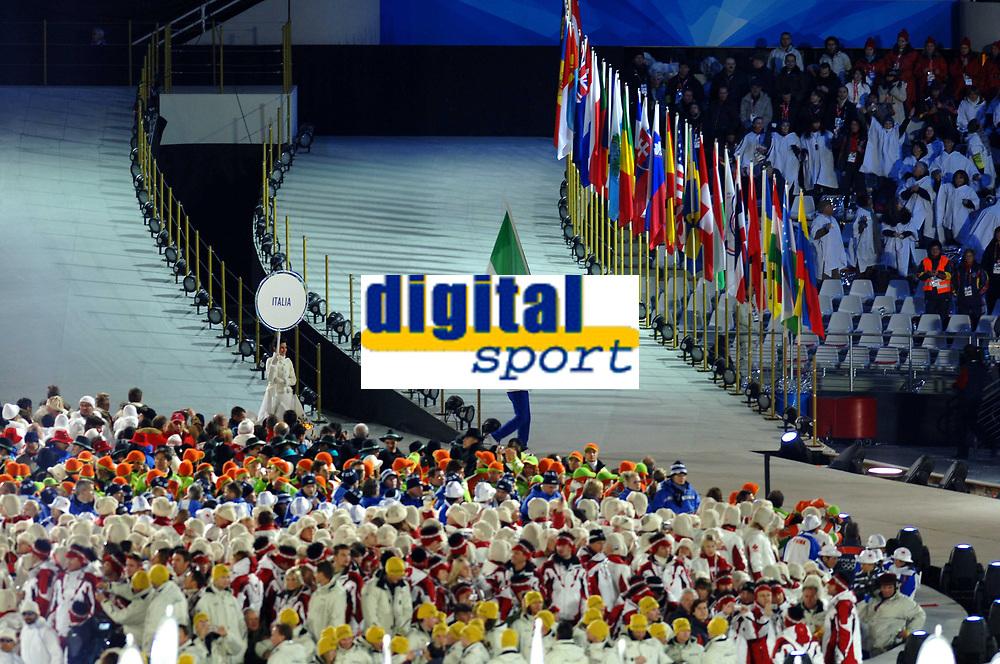 Photo: Catrine Gapper.<br /> Winter Olympics, Turin 2006. Opening Ceremony. 10/02/2006.