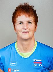 Mira Jakin of Slovenia posing as a member of Slovenia Sitting Volleyball Team, on October 22, 2017 in Sempeter pri Zalcu, Slovenia. (Photo by Vid Ponikvar / Sportida)