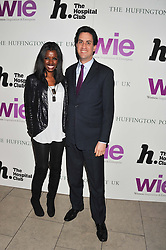 JUNE SARPONG and ED MILIBAND MP at the annual WIE (Women: inspiration and enterprise) Awards held after the WIE Symposium... A day of inspirational talks by thought leaders and opinion formers to give young women the tools to succeed in business and life held at The Hospital Club, Endell Street, London on 8th March 2012.