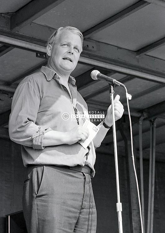 Bruce Kent, General Secretary of CND, Nottingham July 1984 UK