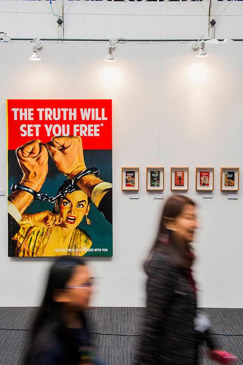 London Art Fair opens at the Business Design Centre, Islington, London.