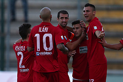 September 17, 2017 - Teramo, TE, Italy - The Teramo Calcio 1913 players celebrate the 1-0 goal of Lorenzo De Grazia of Teramo Calcio 1913 during the Lega Pro 17/18 group B match between Teramo Calcio 1913 and Ravenna FC at Gaetano Bonolis stadium on September 17, 2017 in Teramo, Italy. (Credit Image: © Danilo Di Giovanni/NurPhoto via ZUMA Press)