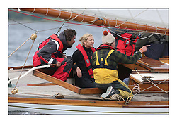 Day three of the Fife Regatta, Cruise up the Kyles of Bute to Tighnabruaich<br /> <br /> Double Olympic Gold medalist Shirley Robertson  Sailing onboard The Truant, Ross Ryan, GBR, Gaff Cutter 8mR, Wm Fife 3rd, 1910<br /> <br /> * The William Fife designed Yachts return to the birthplace of these historic yachts, the Scotland's pre-eminent yacht designer and builder for the 4th Fife Regatta on the Clyde 28th June–5th July 2013<br /> <br /> More information is available on the website: www.fiferegatta.com