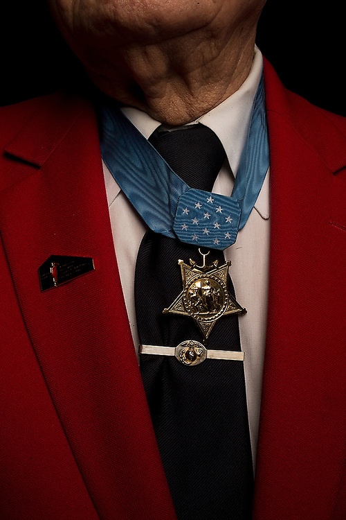 """Medal of Honor Recipient Herschel """"Woody"""" Williams. <br /> The Citadel, Charleston, S.C. March, 2016. <br /> Zach Bland/The Citadel"""