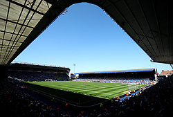 A general view of the St Andrew's stadium prior to the match